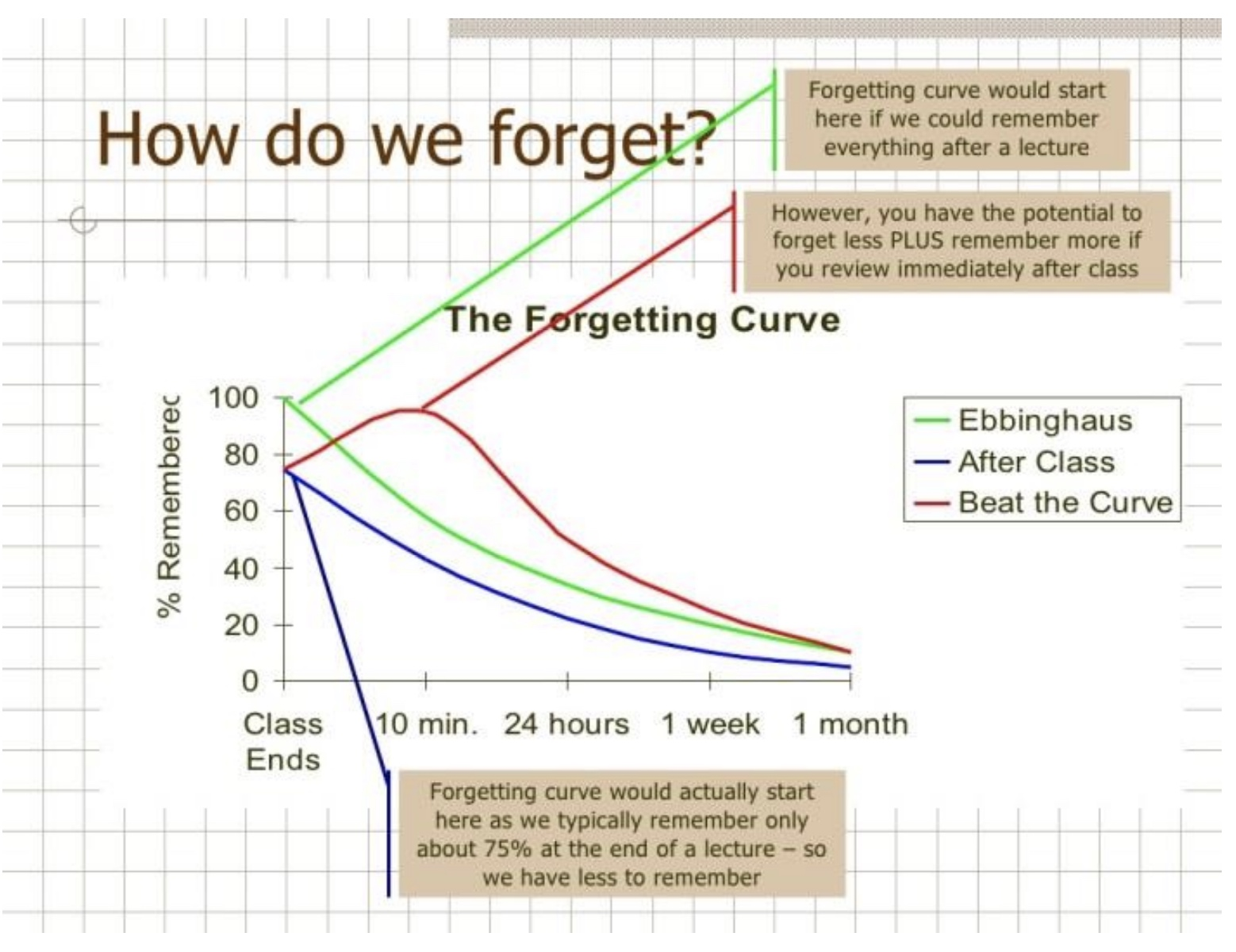 How we forget what we have learned The Forgetting Curve